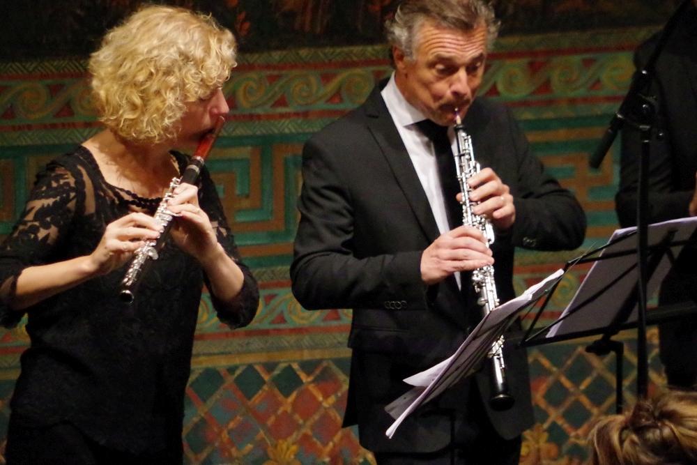 28.9.2018 – Konzert: ... Anna Garzuly-Wahlgren (Flöte), Olivier Doise (Oboe) ... (Foto: Christine Tröger)