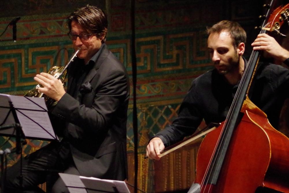 28.9.2018 – Konzert: ... Hervé Joulain (Horn) und Olivier Thiery (Kontrabass) ... (Foto: Christine Tröger)