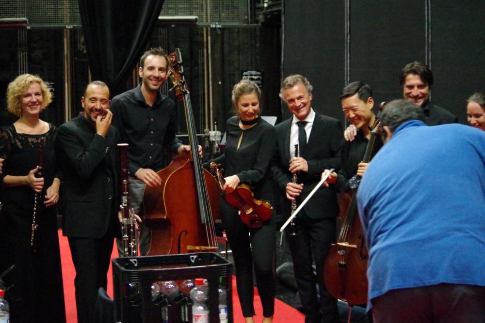 28.9.2018 – Konzert: ... noch ein Erinnerungsfoto vom Nonett ... (Foto: Christine Tröger)