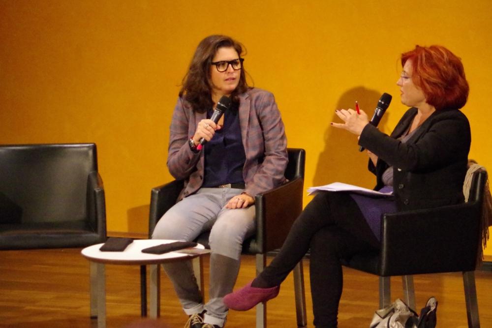 29.9.2018 – Komponistinnengespräch: Irene Suchy, Musikwissenschaftlerin und Redakteurin des Österreichischen Rundfunks, interviewt ...   (Foto: Christine Tröger)