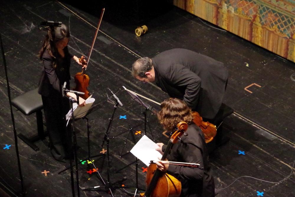 29.9.2018 – Konzert: Christel Lee (Violine), Joaquín Riquelme García (Viola) und Justus Grimm (Violoncello) engagiert bei ... (Foto: Christine Tröger)