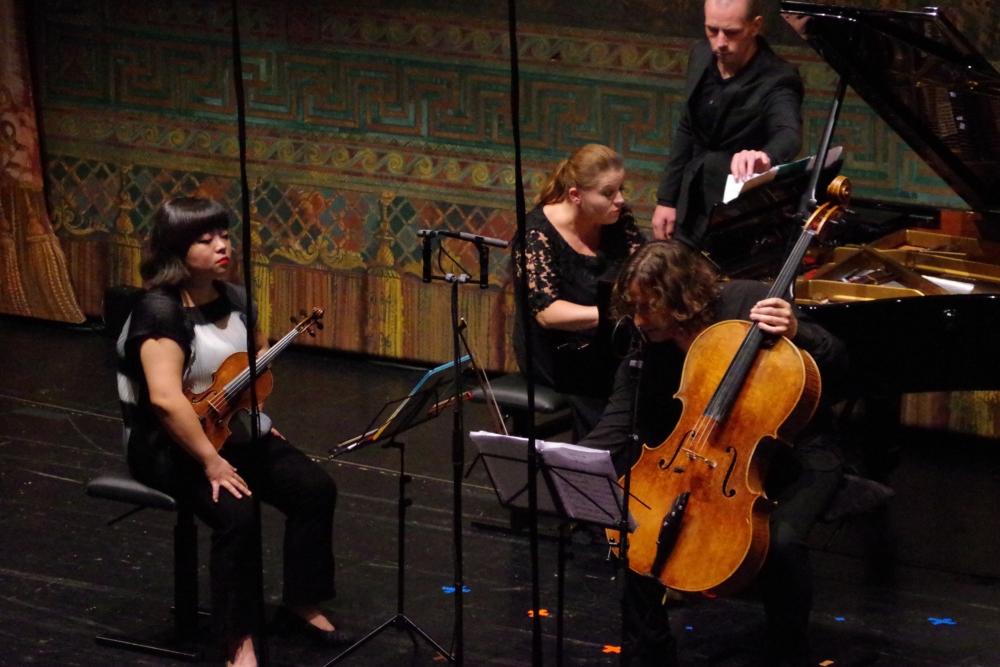 29.9.2018 – Konzert: Bei der »Sonata a tre« (1926/27) von Gian Francesco Malipiero (1882-1973) ... (Foto: Christine Tröger)