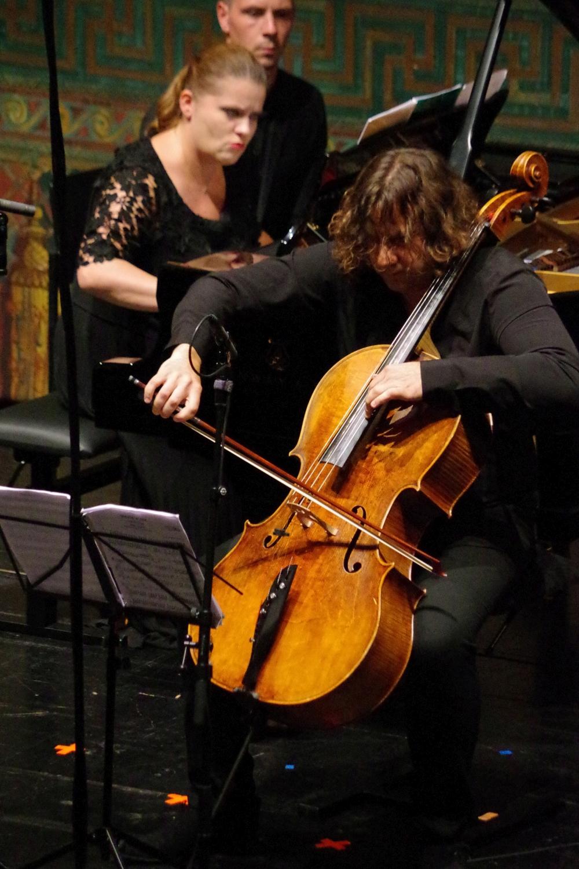 29.9.2018 – Konzert: ... spielen erst Lauma Skride (Klavier) und Justus Grimm (Violoncello) als Duo ... (Foto: Christine Tröger)