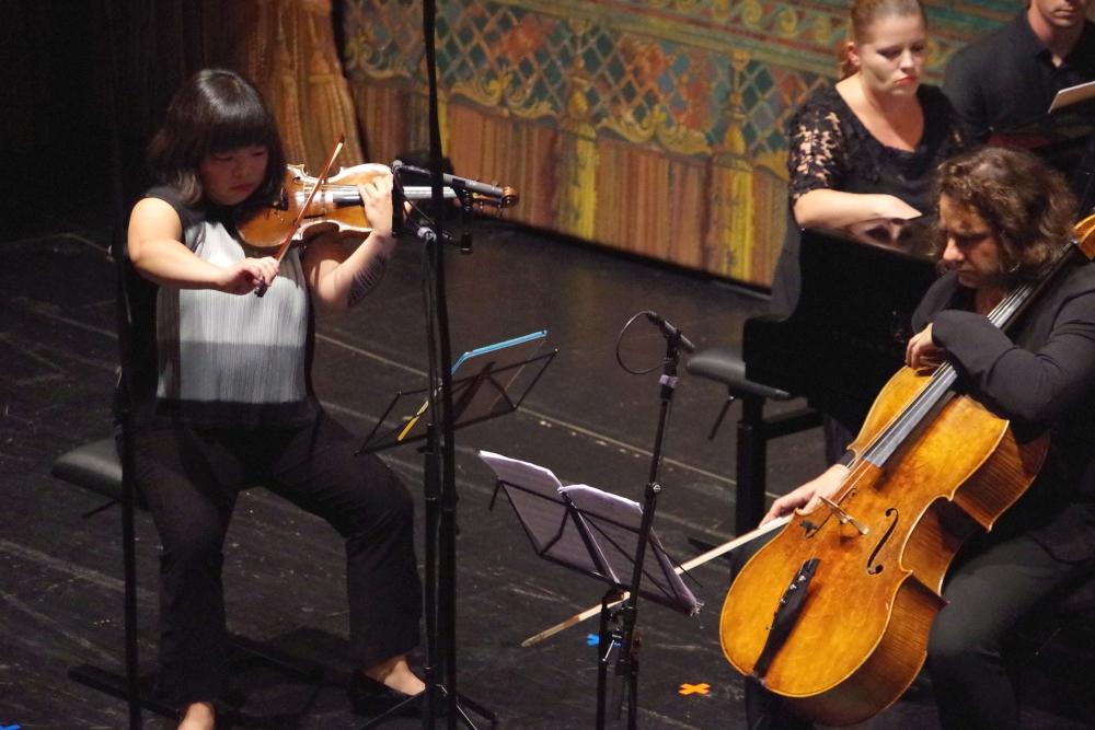 29.9.2018 – Konzert: ... dann das zweite Duo Yura Lee (Violine) und Lauma Skride (Klavier) ... (Foto: Christine Tröger)