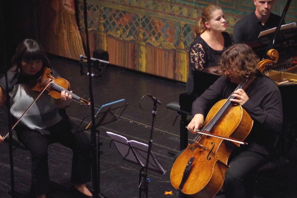 29.9.2018 – Konzert: ... und erst im letzten Satz alle drei zusammen ... (Foto: Christine Tröger)