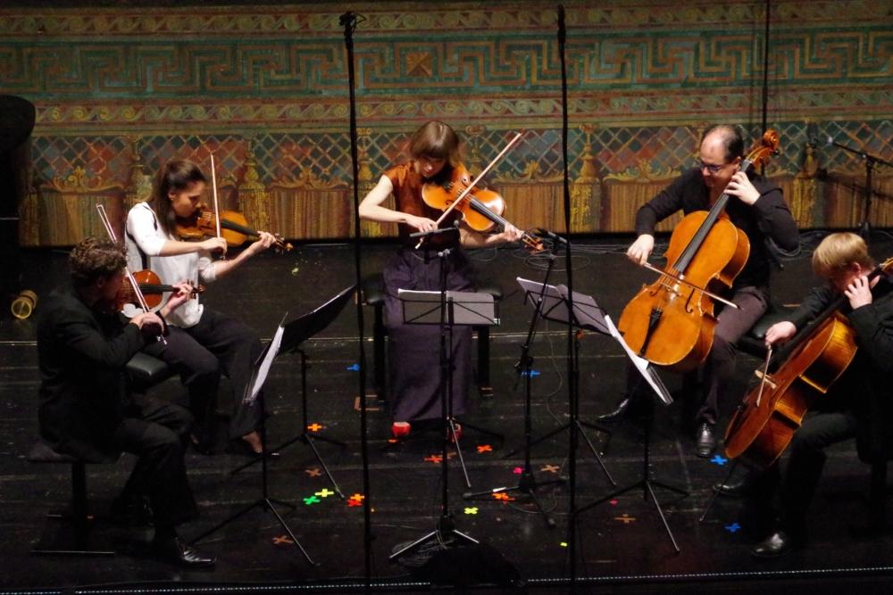29.9.2018 – Konzert: Nach der Moderne »klassische Klassik«  mit dem Streichquintett e-Moll von Luigi Cherubini (1760-1842) ...  (Foto: Christine Tröger)