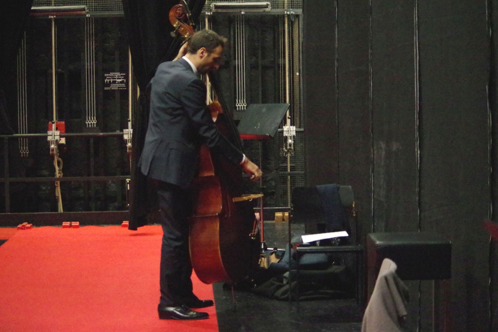 29.9.2018 – Konzert: ... Vorbereitungen für das Finale ...  (Foto: Christine Tröger)