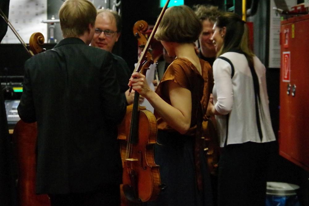29.9.2018 – Konzert: ... Gratulationen für  ...  (Foto: Christine Tröger)