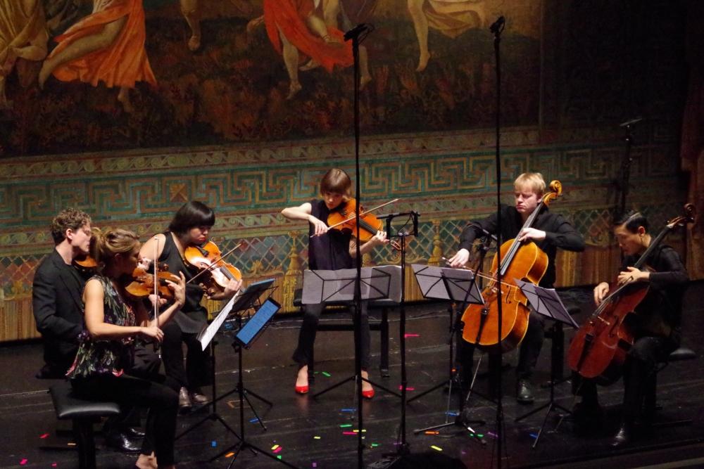 30.9.2018 – Konzert: Beim Streichsextett »Cavatina e i gridi«, komponiert 2002, von Salvatore Sciarrino (*1947) ... (Foto: Christine Tröger)