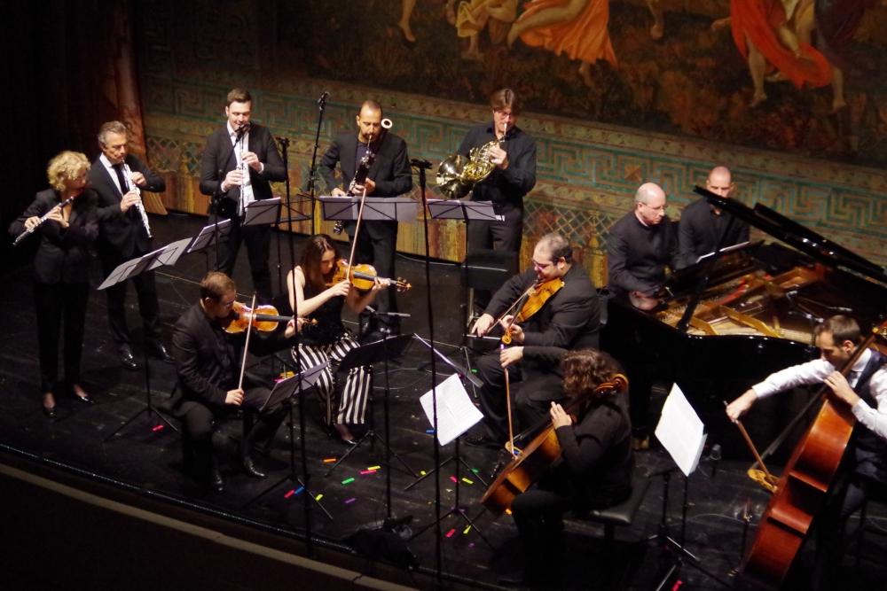 30.9.2018 – Konzert: ... ein erstklassigers Orchester für Ermanno Wolf-Ferrari (1876-1948) Kammersymphonie B-Dur op. 8 ...(Foto: Christine Tröger)