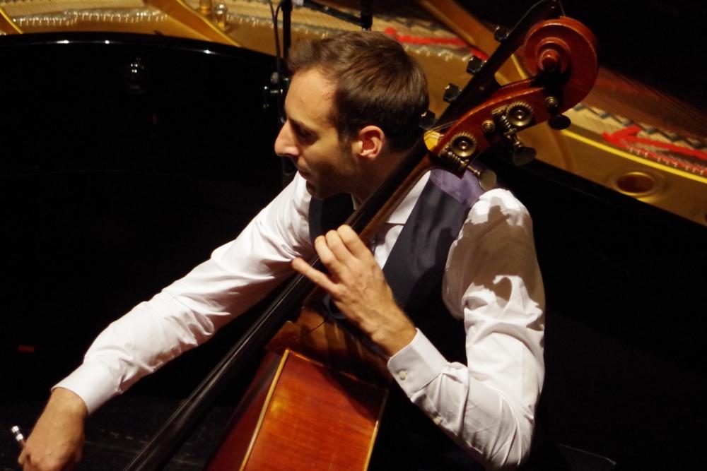 30.9.2018 – Konzert: ... Olivier Thiery (Kontrabass) zusammen mit ... (Foto: Christine Tröger)