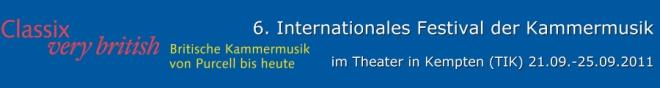 CLASSIX 2011 – Classix very british - Britische Kammermusik von Purcell bis heute